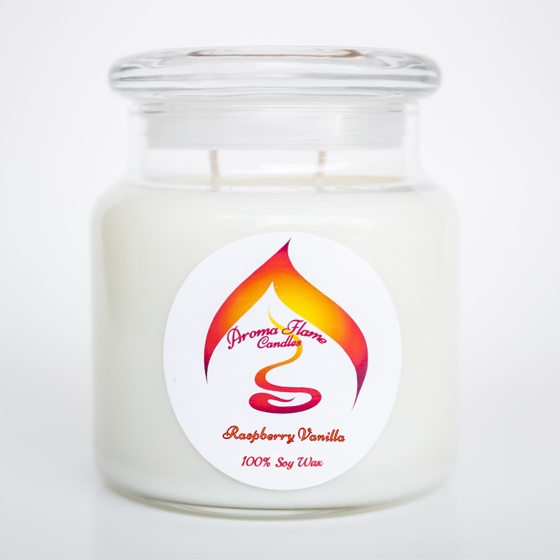 Raspberry Vanilla Candle - 16 oz Jar